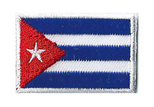 Ecusson drapeau thermocollant Cuba Cubain petit patch 45x30 mm