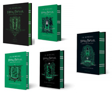 NEW Harry Potter Slytherin Editions 5 Hardcover Books Set - Philosopher, Chamber