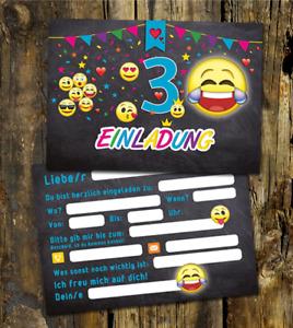 20 Einladungskarten 3 Geburtstag, EMOJI für den 3 Geburtstag, 3 Kindergeburtstag