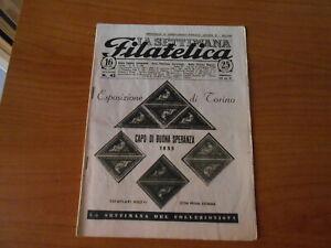 rivista-SETTIMANA FILATELICA n.42-novembre 1948