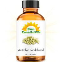 Sandalwood Essential Oil (Australian) - 2oz (59ml) 100% Pure Amber Glass Bottle