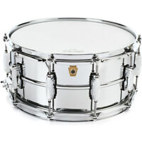 "Ludwig USA LM402 Supraphonic Smooth Chrome Aluminum Snare Drum, 6.5"" x 14"""