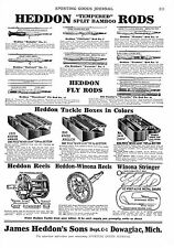 Heddon Rods - Reels  -   Hermann H. Heiser Saddlery  -  Sporting Goods   -  1929