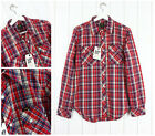 NEW LEE 101 SAW RIDER SHIRT SLIM FIT RED/BLUE CHECK S SMALL