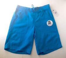 NEW George & Martha Women's Shorts Ally Pure Linen Bermuda Azure Stl# L4428 Sz S
