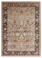 Amritsar Beige  6'6''x9'9'' Vintage Finish Oxidize Hand Knotted Woolen Area Rugs