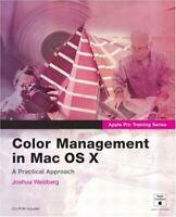 Color Gestión Con Mac OS X Libro en Rústica Joshua Weisberg