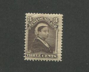 1896 Newfoundland Queen Victoria 3 Cents Postage Stamp #52