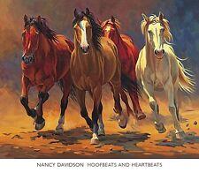 HORSE ART PRINT Hoofbeats and Heartbeats Nancy Davidson