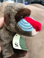 Small WWF Beanie Soft Toy Baboon Ape Monkey by Anna Club Plush 1996