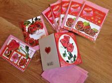 lotto stock di 8 biglietti chiudi pacco auguri amore love per fine attivita'