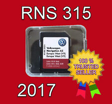2017 VW SKODA SEAT RNS 315 AMUNDSEN V9 SD CARD AZ WEST EUROPE NAVIGATION