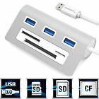 Sabrent HB-MACR MAC & PC 3Port USB 3.0 Hub w/ CF SD MicroSD Card Reader - Silver