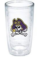 NEW Tervis ECU Pirate Crossbones Emblem Individual Tumbler, 16 oz, Clear