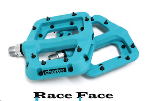 Turquoise Race Face Chester Platform Mountain Bike Pedals 9/16""