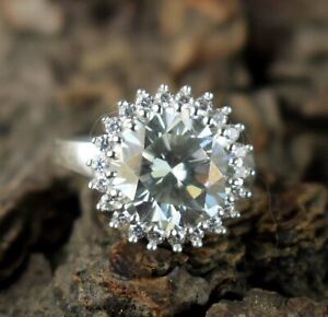Wedding Gift 5.33 Ct Certified White Diamond Halo Solitaire Women's Bridal Ring