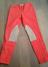 New Ralph Lauren Women's Riding Pants Suede Leather Moore Oxford Orange Size 6