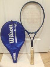 "Wilson Pro Star Midsize Tennis Racket High Beam Series Widebody L3-4-3/8"" & Case"