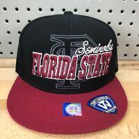 FSU Seminoles Florida State University NCAA TOW Leather Strap Back Hat NWT Cap