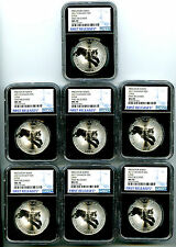 2017 $5 CANADA 1OZ SILVER LYNX NGC MS70 RARE FIRST RELEASE COMPLETE SET LOT OF 7