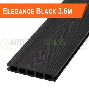 8 BLACK COMPOSITE DECKING BOARDS - 4SQM COVERAGE-  END OF BATCH - 3.6M LENGTHS