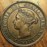 1898H CANADA LARGE CENT PENNY LARGE 1 CENT - Fantastic example!