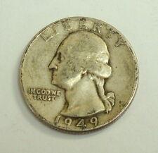1949 Washington Quarter 90% Silver Coin, marked D