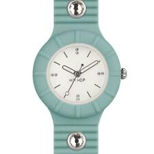 Reloj de Mujer HIP HOP CRYSTAL HWU0586 Small 32mm Silicona Azul Claro Swarovski