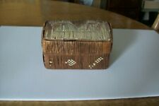 Northern Cheyenne Montana Native American Indian Porcupine Quill Box