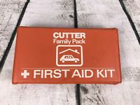 Vintage Cutter Family Pack First Aid Kit with Original Contents -Complete Orange