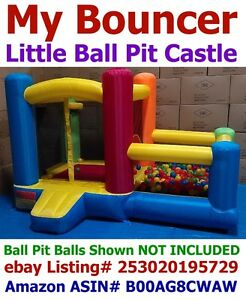 My Bouncer AZ-600 Little Castle Bounce House w/ Ball Pit Perfect Indoor Outdoor