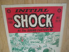 FILLMORE POSTER era INITIAL SHOCK SOUND FACTORY 1968