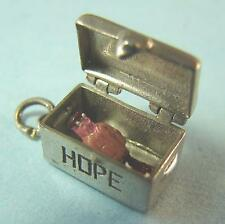 Vintage STERLING Silver Hope Chest OPENS to Man of Her Dreams Charm