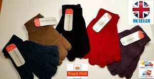 Ladies Womens Chenille Warm Soft Thermal Winter Gloves