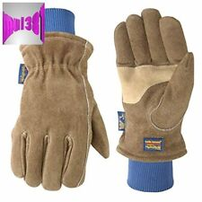 Mens Lined Leather Work Insulated Gloves Large Wells Lamont For Cold Winter