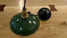 Reclaimed Vintage Industrial Green Enamel Metal Pendant Light