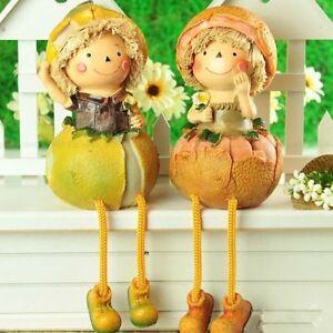 Home Kitchen Decorative Fruits & Vegetables Doll Shelf Sitter Figurine Show