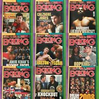 Boxing Monthly Magazines, 2008, Choose your month, Mint Condition