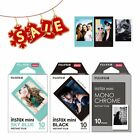 Fujifilm Instax Mini Monochrome Mono + Black + Sky Blue Film for Mini 8 Plus US