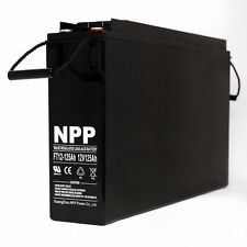 NPP FT12 12V 125Ah Front Access Power Inverter Deep Cycle AGM Battery