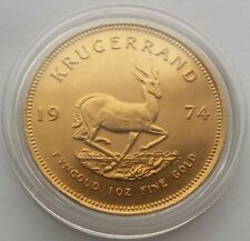 1974 Gold Krugerrand One Ounce 1oz Coin.