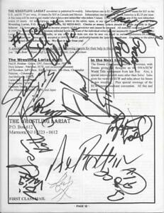 10 + ECW autographs magazine page autographed Johnny Grunge, Axel Rotten, 911