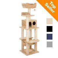 Cat Tree with Sisal Posts Hammock Large Play Den Bed Observation Platform