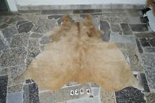 BUTTER CREAM-  Rug HAIR ON SKIN  Leather cowhide 4364-   66'' x  54''