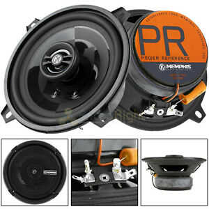 """Memphis Audio 5.25"""" 2 Way Coaxial Speakers 60W Max Power Reference PRX5 Pair"""