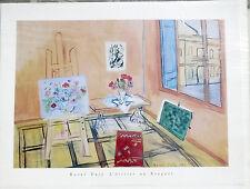 (PRL) POSTER D' EPOCA RAOUL DUFY 1989 VINTAGE AFFICHE ORIGINAL ART PRINT 60 x 80