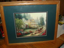THOMAS KINCAIDE SUNDAY AT APPLE HILL FINE ART PRINT FRAMED & DOUBLE MATTED