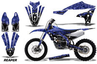 Dirt Bike Decal Graphics Kit MX Sticker Wrap For Yamaha YZ450F 2018+ REAPER BLUE