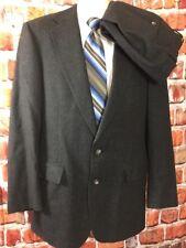 Vtg Polo University Club Mens Charcoal Multicolor Wool 2pc Suit 41L 33x34 (t7)