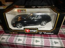 BBurago Diecast Metal1/18 Scale Dodge Viper Black MIB